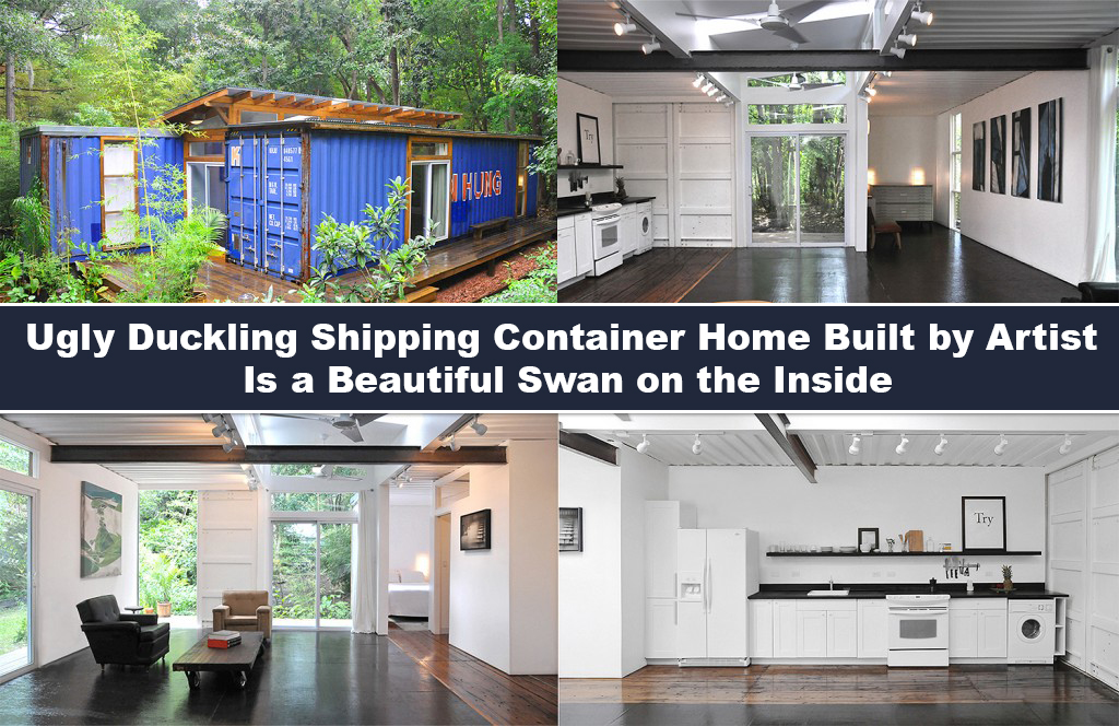 Ugly Duckling Shipping Container Home Built By Artist Is A Beautiful Swan On The Inside Beauty Of Planet Earth