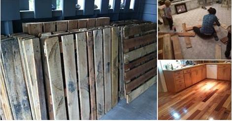 Diy Project Pallet Wood Floor Beauty Of Planet Earth Beauty