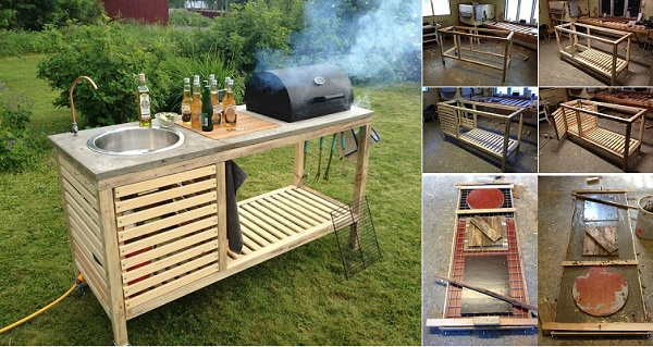 Outdoor Kitchen Ikea Alluring Diy Idea Make Your Own Portable Outdoor  Kitchen Beauty Of . Design