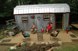 The framework for the Berzin tiny home is just 168 sq. feet!