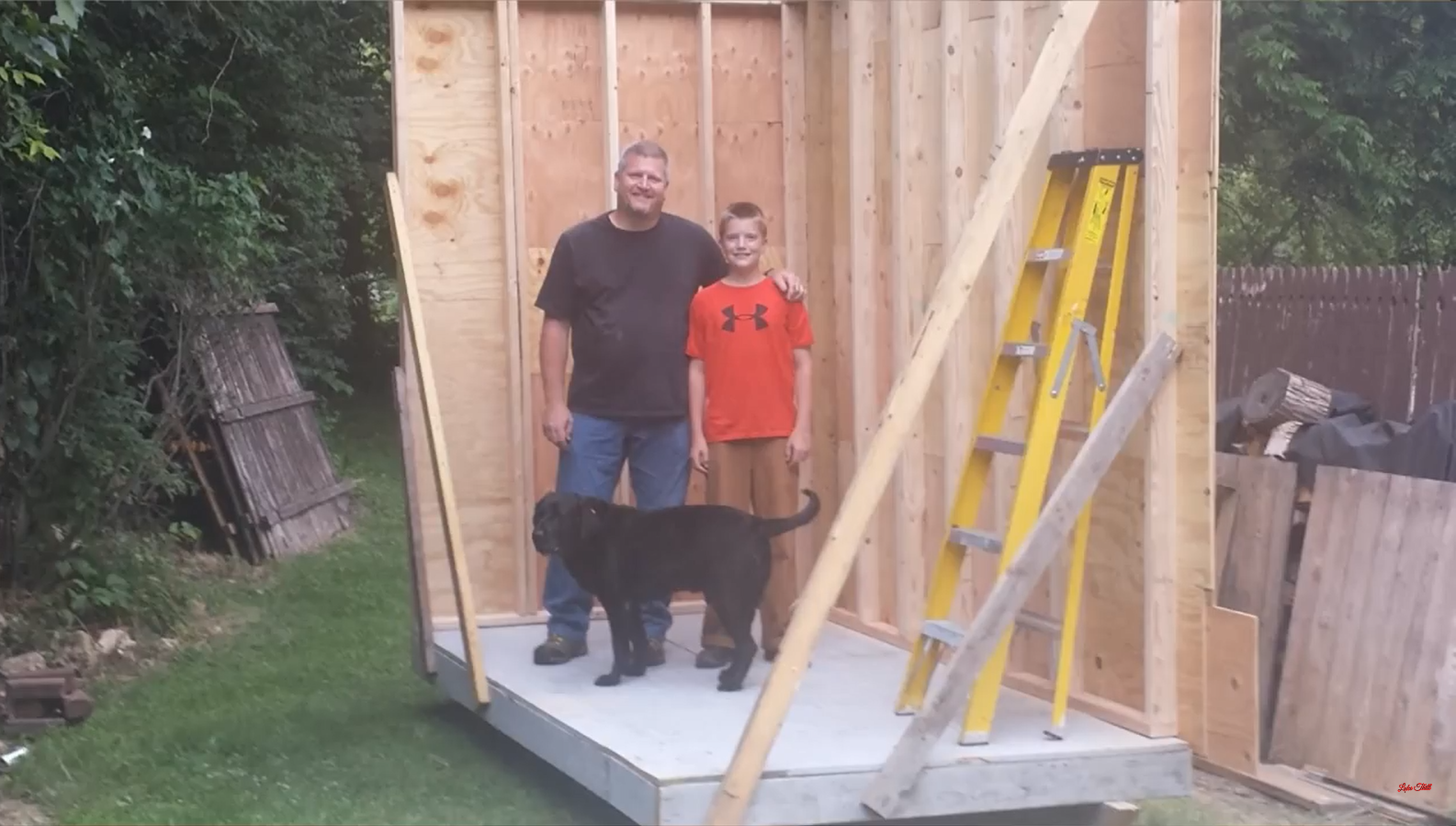 13 Year Old Boy Built His Very Own Tiny House Only Spent 1500 Wiring A Youtube Through Lot Of Tutorials He Learned The Ins And Outs Framing Structure